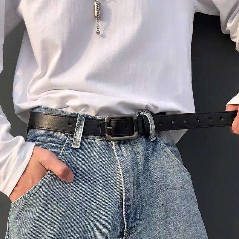 AliExpress - Korean Version Men's Belt Trend All-Match Simple Needle Buckle Belt Size Men And Women With The Same Style