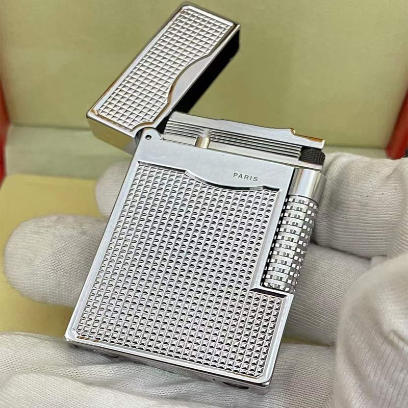 100% brand new made in China retro original DuPont bright sound lighter windproof lighter electronic lighter enlarge