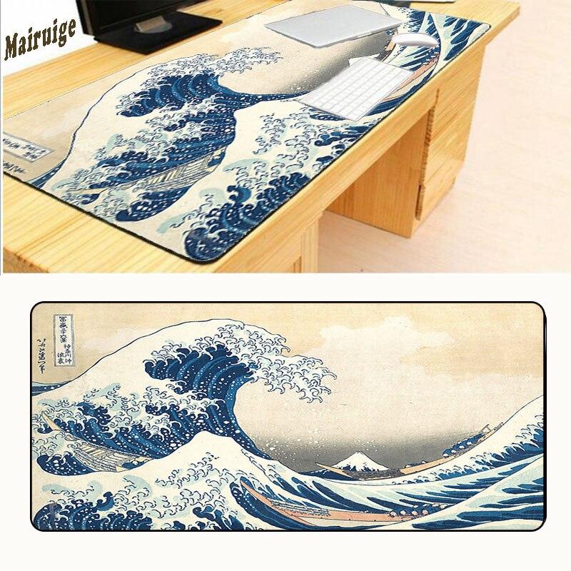 XGZ 900*400*2mm diseño Original ordenador velocidad Gaming las olas Mouse Pad goma Gamer suave esterilla cómoda