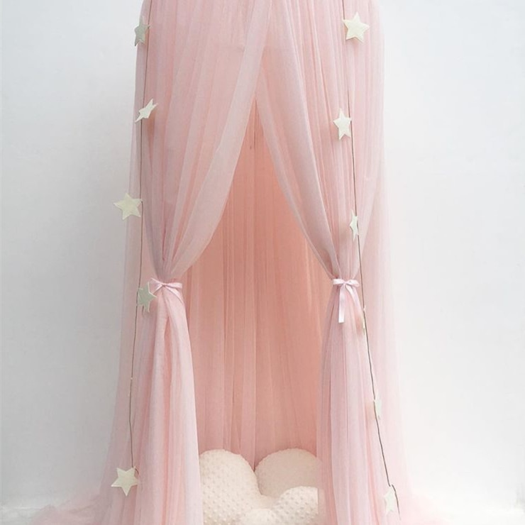 Hanging Baby Bed Canopy Mosquito Net Dome Dream Curtain Tent Baby Crib Netting Round Hung Kids Canopy Tent Children Room Decor