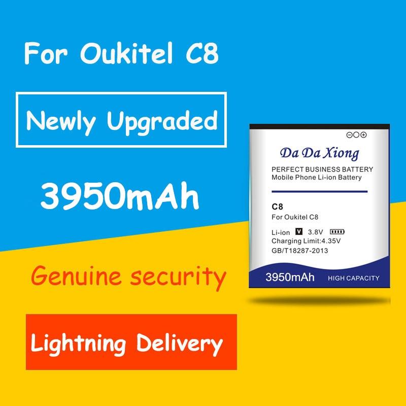 Batería de ciclo 0 de 3950mAh de alta calidad para acumulador de reemplazo para teléfono móvil Oukitel C8