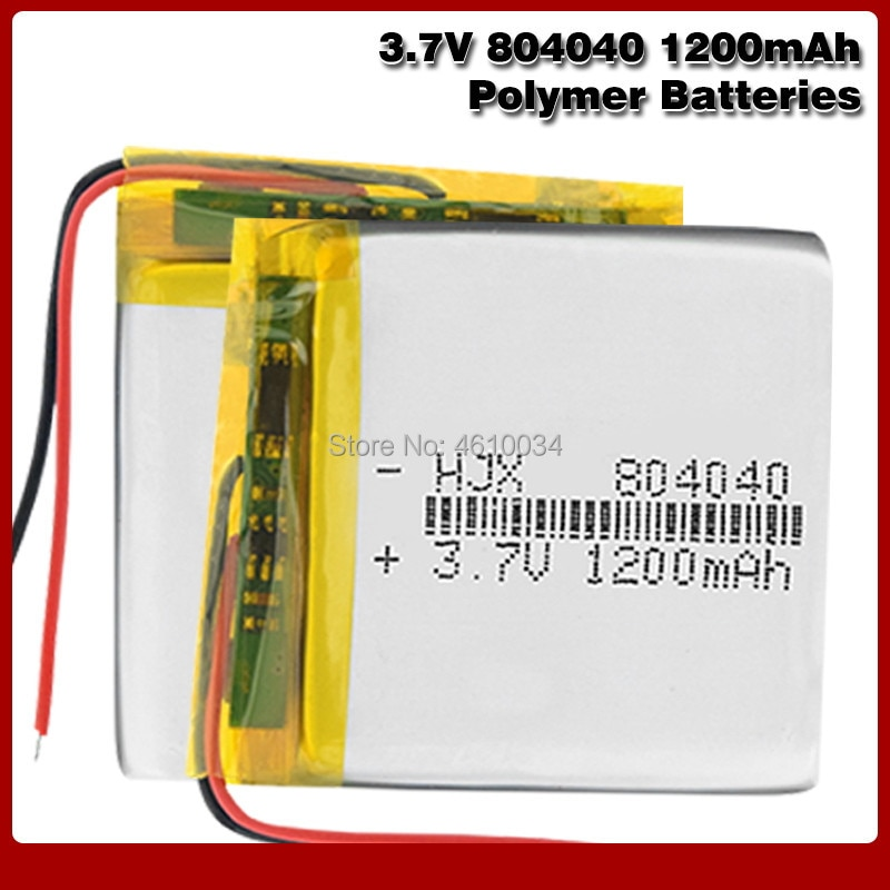 3,7 V 1200mAh li-po batería 804040 polímero de litio li-po batería de iones Lipo celdas para luz LED MP3 MP4 micrófono Bluetooth