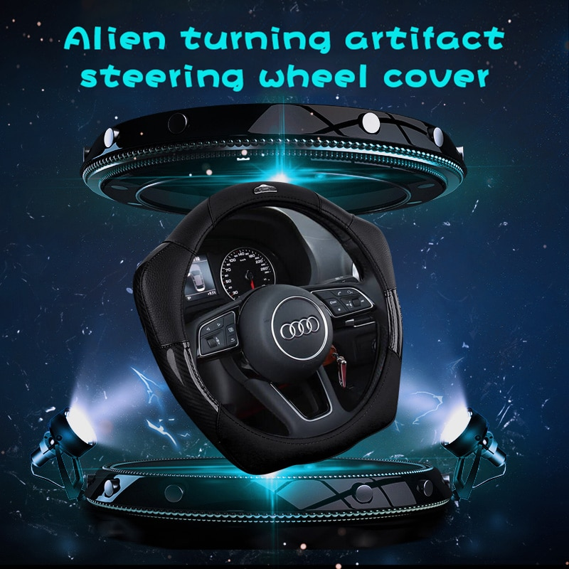 Yunzhe car accessories goods leather breathable Steering Wheel Cover for a3 8v a5 q5 q7 tt 8s mk3 fo