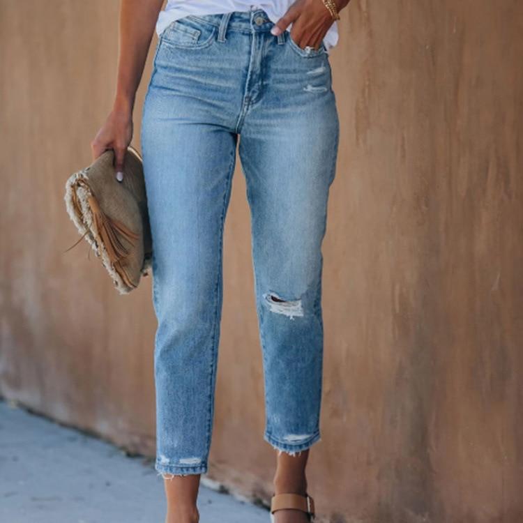 Женские джинсы с рваными дырками, женские джинсы, женские джинсы
