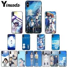 Yinuoda tenki no ko DIY Painted Beautiful Phone Accessories Case for iPhone X XS MAX 6 6S 7 7plus 8