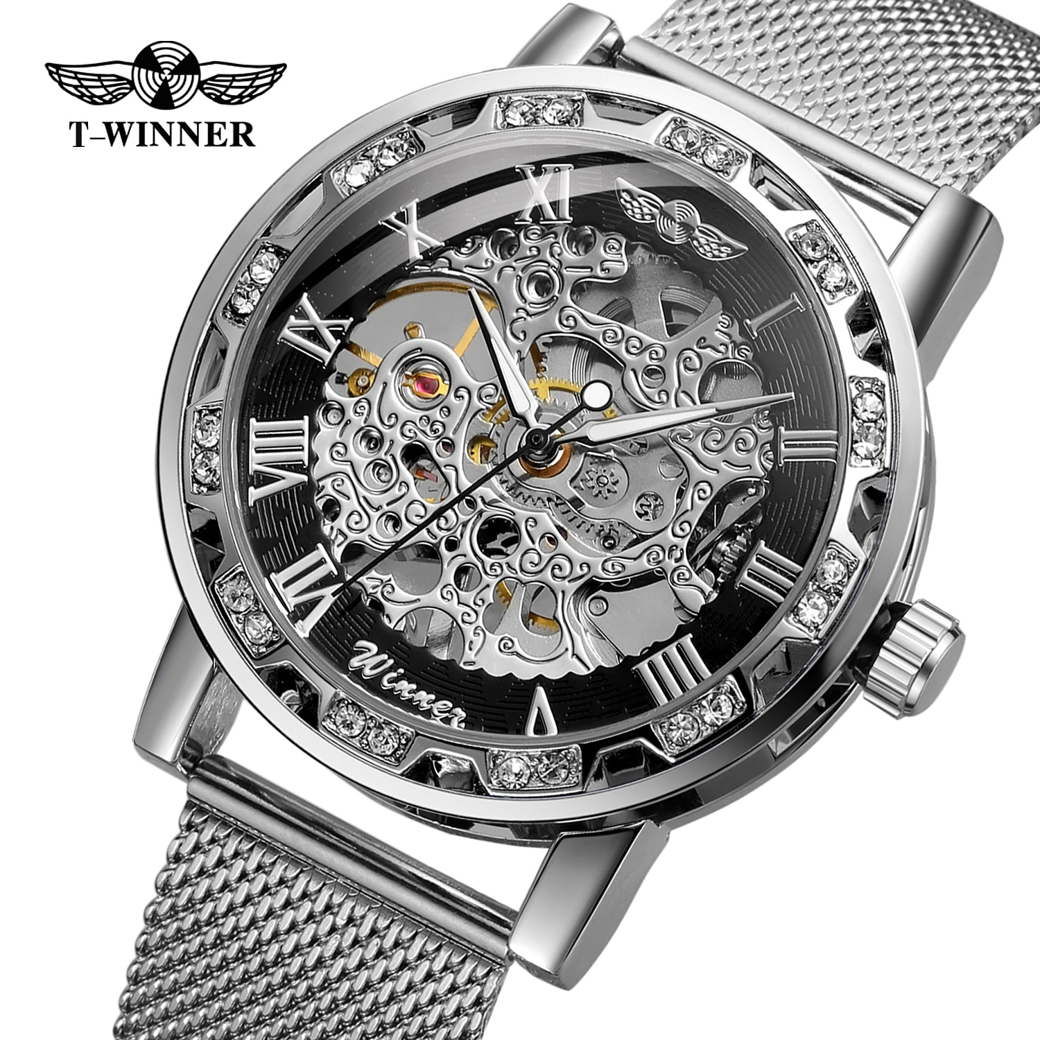 forsining luxury brand men vintage automatic watches male fashion auto date mechanical wristwatches rome dial real leather band Top Brand Forsining Automatic Mechanical Men Wrist Watch Ins Trend Fashion Male Waterproof Luxury Watches
