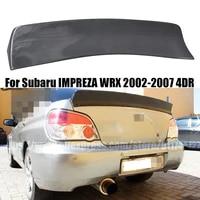 for subaru impreza 4dr 2002 2007 carbon fiber jdm style rear roof spoiler trunk lip wrx wing auto tuning