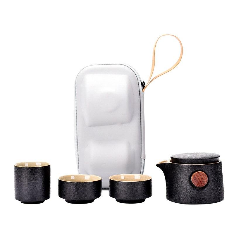 طقم شاي عتيق للسفر طقم شاي خزفي صيني للمنزل طقم شاي كروكري بورسلين جوجو دي تي جابونز للمطبخ شريط طعام DL60CT