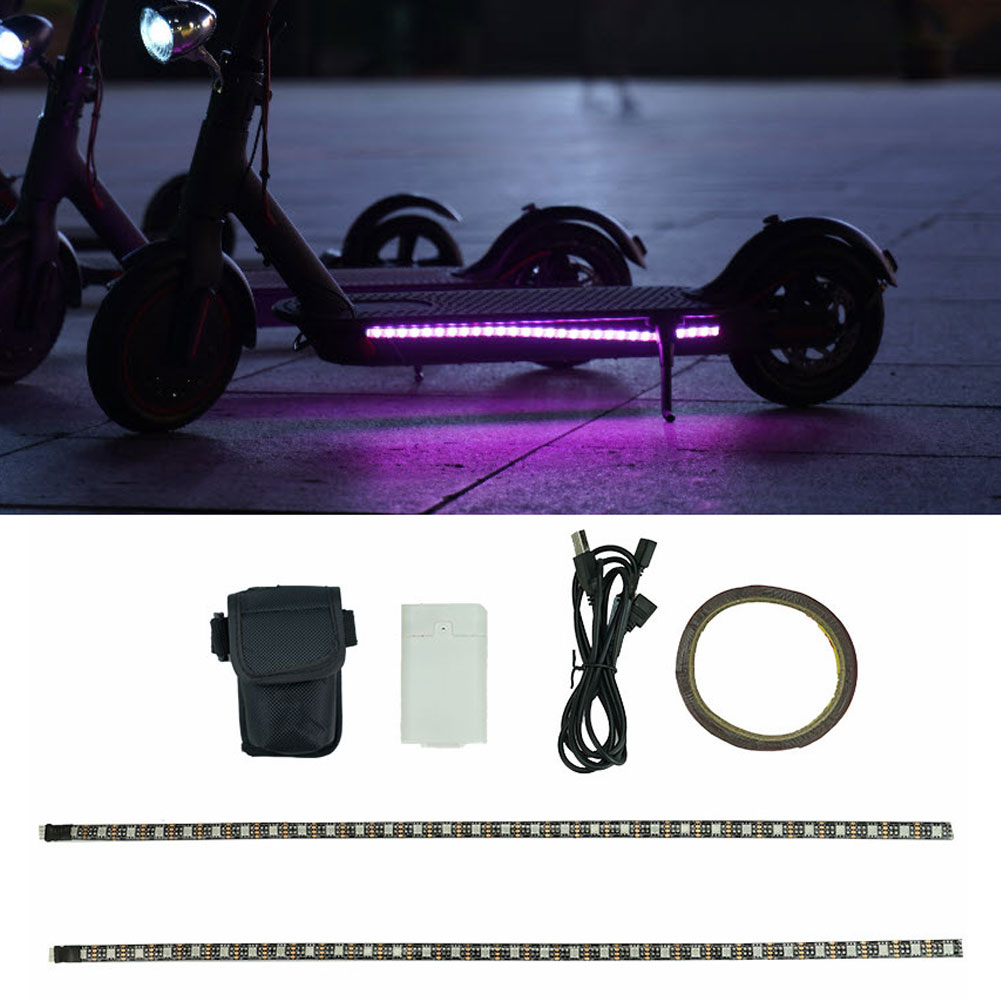 Linterna de tira LED para patinete eléctrico Xiaomi M365 Pro Mijia, luz...
