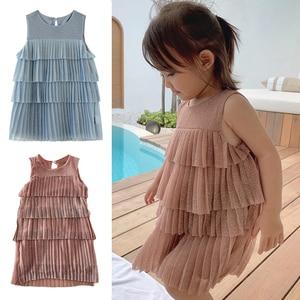New Girls Dress Kids Dresses For Girls Princess Summer Kids Children Solid Girls Dress Kids Girl Children Party Dresses