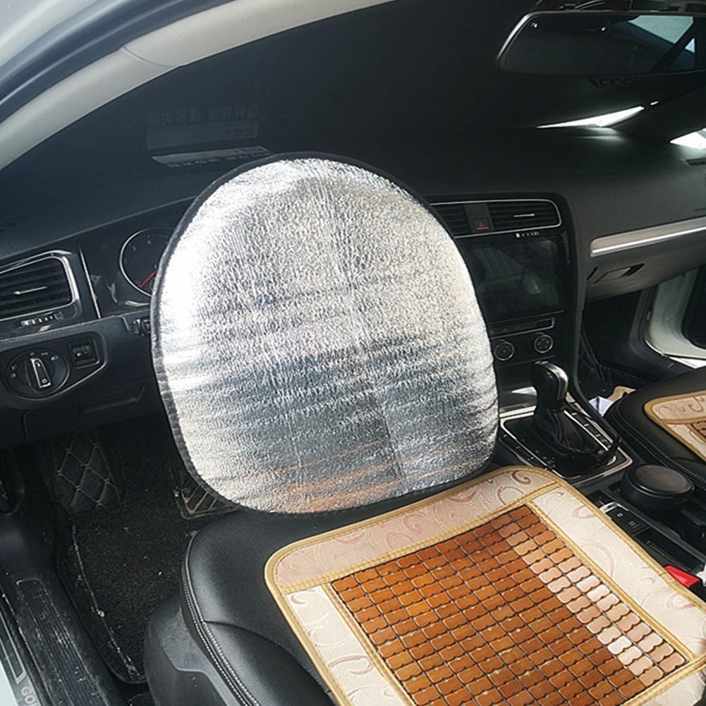 Sun Protection Visor Automotive Aluminum Foil Thicken Accessories Cover Wheel Shield Sunshade Car Foldable Reflective Steer E3Y4