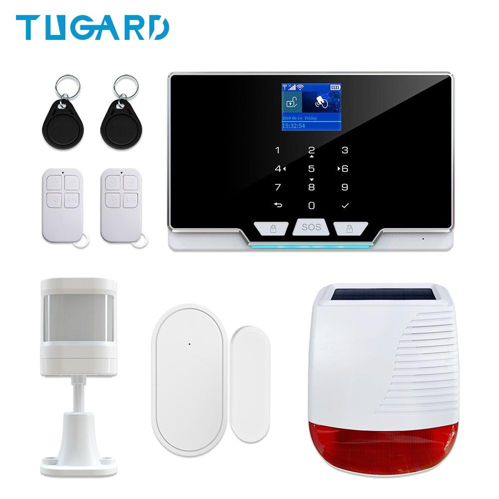 New GSM 3G 4G WiFi Home Security Burglar Alarm System Kit with 433Mhz Wireless Outdoor Solar Powered Siren 110dB Alarm Sound mini wired siren horn for gsm 3g 4g wireless home security sound alarm system 110db alarm siren