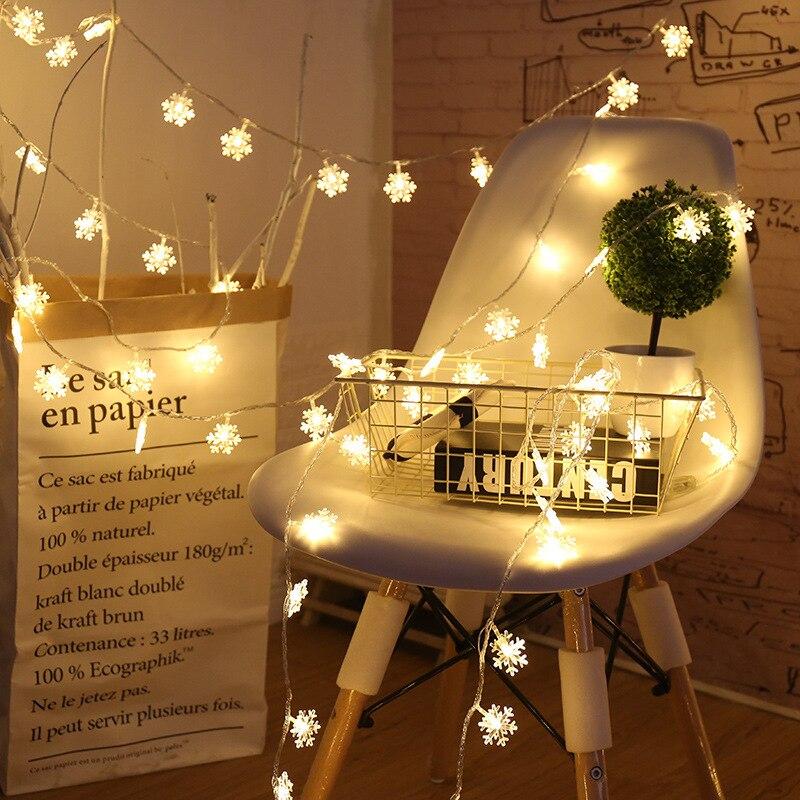 2m 3m 6m luzes de fadas luzes de natal floco de neve luzes da corda para arvore de