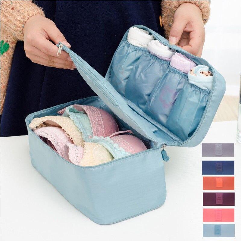 Máximo fornecedor Oxford bolsa de Viagem Saco De Armazenamento Underwear Bra Saco Organizador Caso Caixa de Cosméticos de Higiene Pessoal