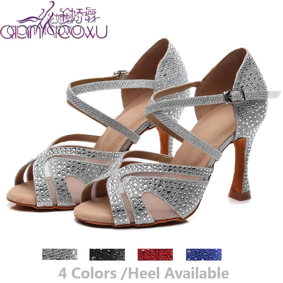 Exuberante Salsa Jazz salón de baile zapatos de baile latino para bailar las mujeres practican la línea Samba Latina 1025 Schoenen sandalias de verano