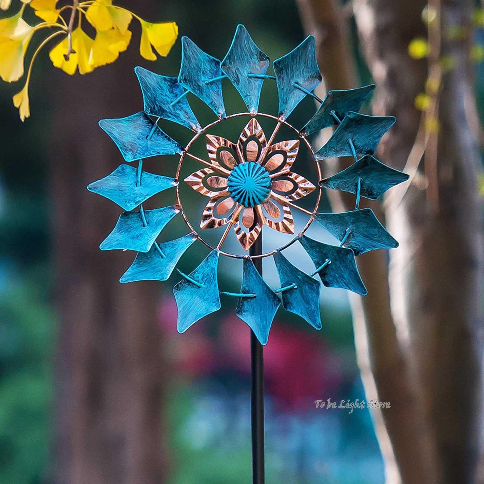 Садовый Спиннер, висячий Спиннер с мандалой и пламенем, 3D Спиннер из нержавеющей стали, легкий вращающийся кинетический Спиннер