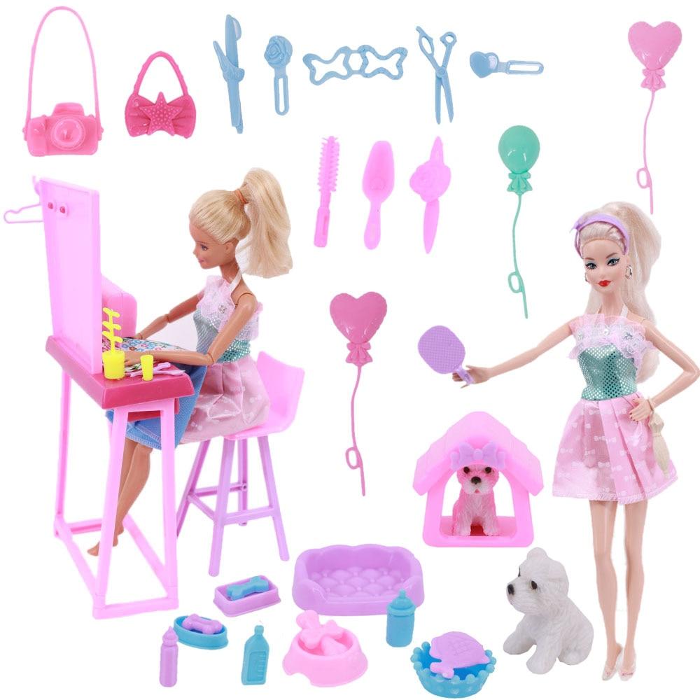 Мебель для Барби, мини-комод, кукольный домик, аксессуары для домашних питомцев, собака, чашка, повязка, набор Барби, аксессуары, подарок для ...