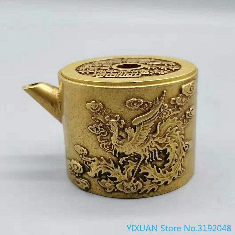 Accesorios y ornamentos de decoración de regalo dragón Fénix chenxiang latón tinta...