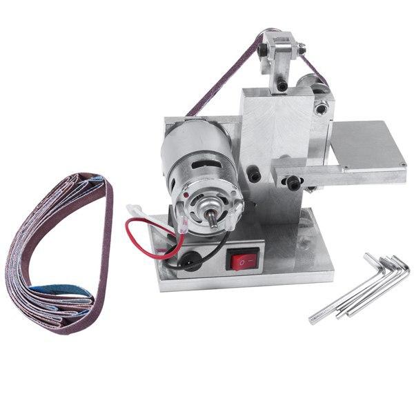 Multifunctional Grinder Mini Electric Belt Sander DIY Polishing Grinding Machine Cutter Edges Sharpener Belt Grinder
