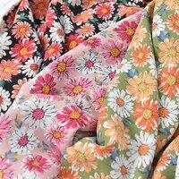 140x50cm summer soft drape garment colorful flower material making dress skirt shirt womens chiffon plain linen fabric