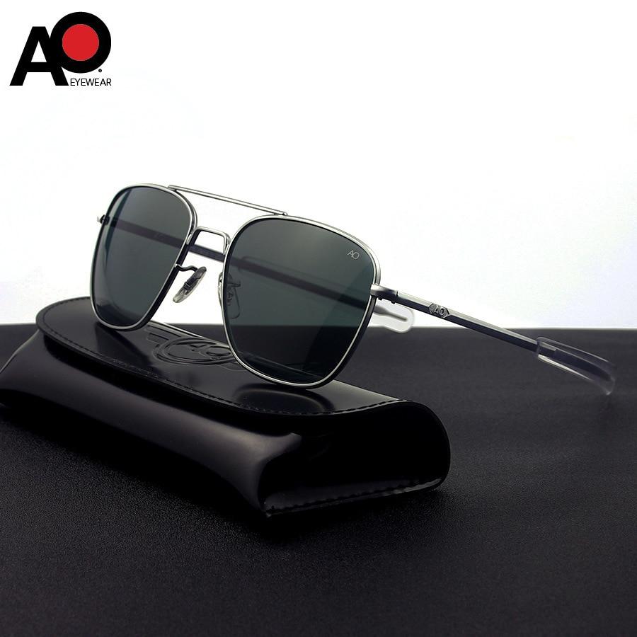 unisex sunglasses men 2020 rectangle American Army Military Optical AO 8054 sunglasses pilot driving