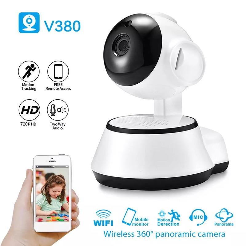 كاميرا مراقبة منزلية IP WiFi HD 720P ، جهاز أمان منزلي لاسلكي ذكي ، مع تسجيل صوتي ، مراقبة الطفل