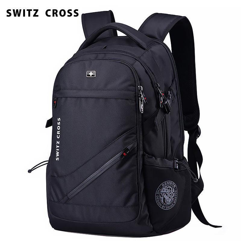 Рюкзак швейцарский армейский для мужчин, вместительный мужской ранец для компьютера, для отдыха, бизнеса, путешествий