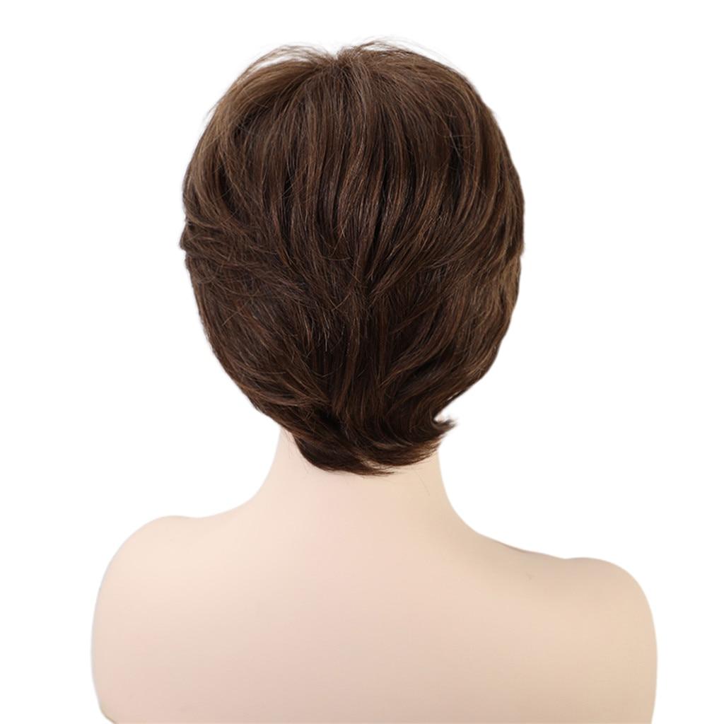 8 ''شعر بشري حقيقي مقاوم الباروكات الطبقات شعر مستعار الطبيعي أشعث