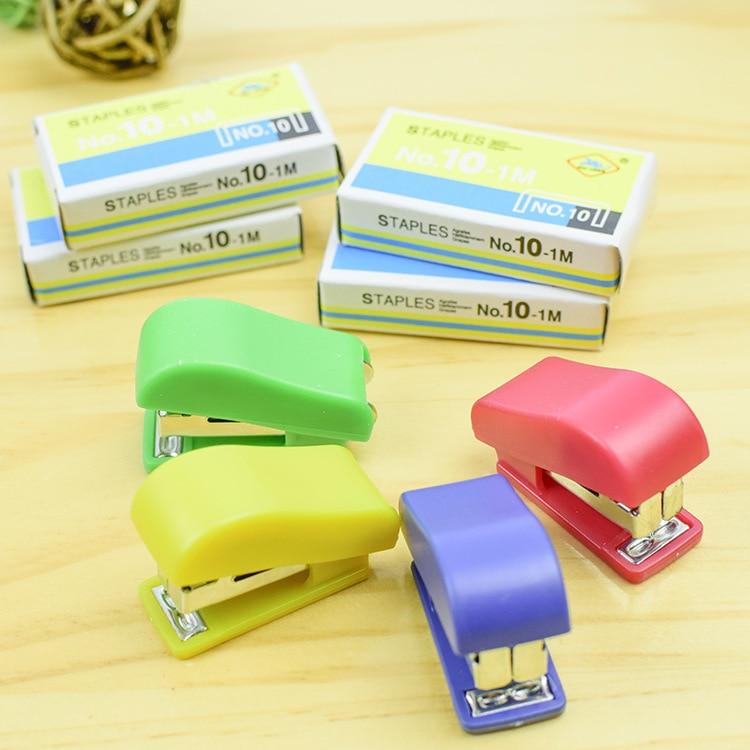 Mini grampeador bonito, artigos de papelaria criativos do escritório, presentes das crianças e dos students, grupo do grampeador, prego não. 10