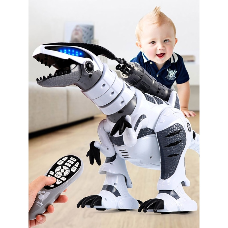 C5AA RC Robot Dinosaur Intelligent Interactive Smart Toy Electronic Remote Control Tyrannosaurus Collectible Model enlarge