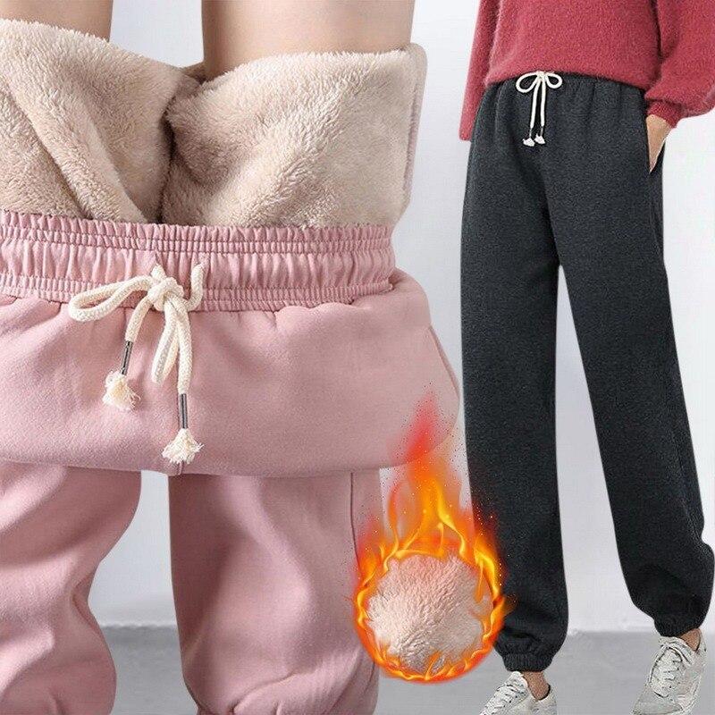 Зимние теплые леггинсы, женские черные повседневные тренировочные штаны, тренировочные штаны, утепленные брюки, утепленные спортивные дли...