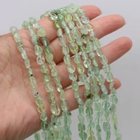 hot selling natural stone irregular green prehnite loose beads for diy jewelry making necklace bracelet earrings accessory