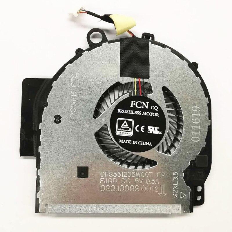 Refrigerador original novo do ventilador de refrigeração da cpu para hp pavilion x360 14-ba 924281-001 924282-001 DFS551205WQ0T-FJGD NBA-14P fsftb5m