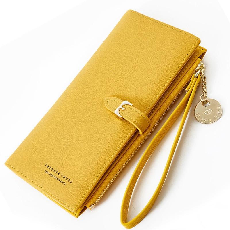 Wristband Women Long Wallet Many Departments Female Wallets Clutch Lady Purse Zipper Phone Pocket Ca