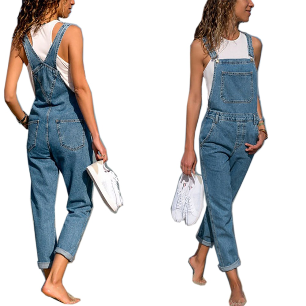2021 New Fashion Women Baggy Denim Cross Border Special Jeans Bib Full Length Overall Solid Loose Causal Jumpsuit Hot Suspender jumpsuit bodysuit arrival women ladies baggy bib full length pinafore dungaree overall solid loose causal jumpsuit pants summer