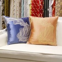 light luxury sofa pillow cushion simple modern orange living room bedside large backrest pillowcase white decorative pillows