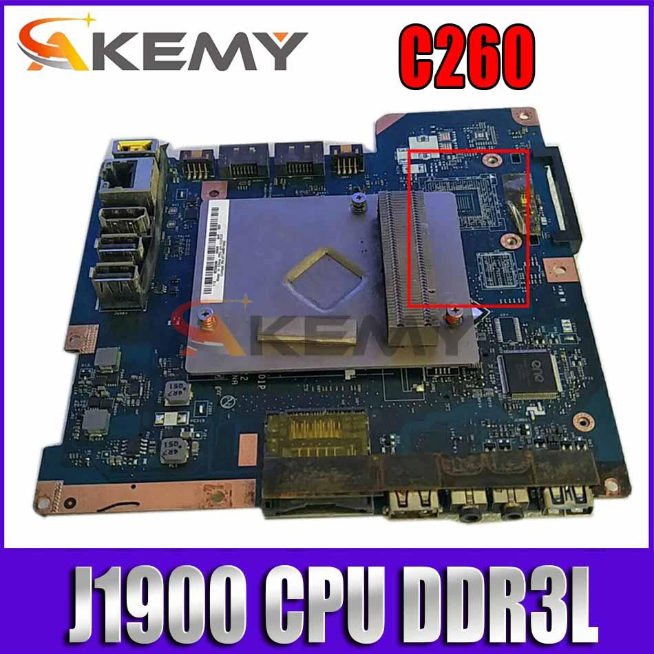 العلامة التجارية الجديدة الأصلي ZAA00 LA-B001P لينوفو C260 AIO اللوحة الأم مع J1900 CPU DDR3L 90007086 100% اختبار العمل.