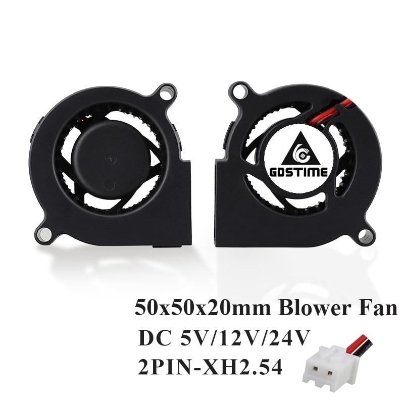 Gdstime 1 Piece DC 24V 50mm Blower Fan 50x50x20mm 5000RPM Centrifugal 24 Volts 5020 Cooling 5cm