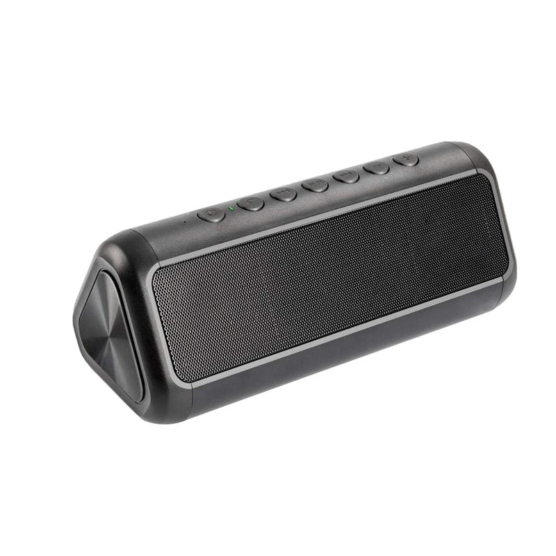 Altavoz Solar Bluetooth con Banco de energía de 5000 Mah, altavoz portátil inalámbrico Bluetooth 4,2 Subwoofer estéreo de 12 W, agua Ipx6