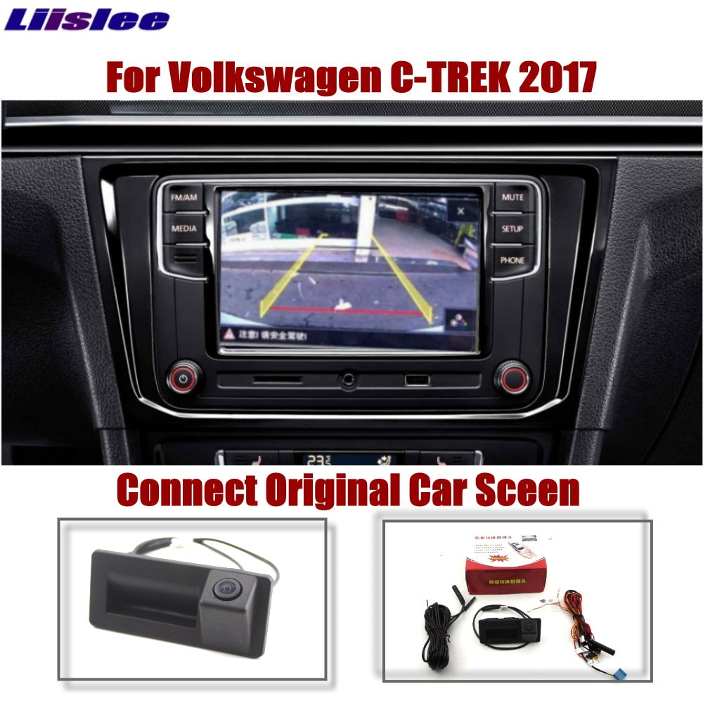 Car Reverse Rear Camera For Volkswagen VW C-Trek 2017 2018 2019 2020 Original Screen Upgrade Parking Dynamic Trajectory Image