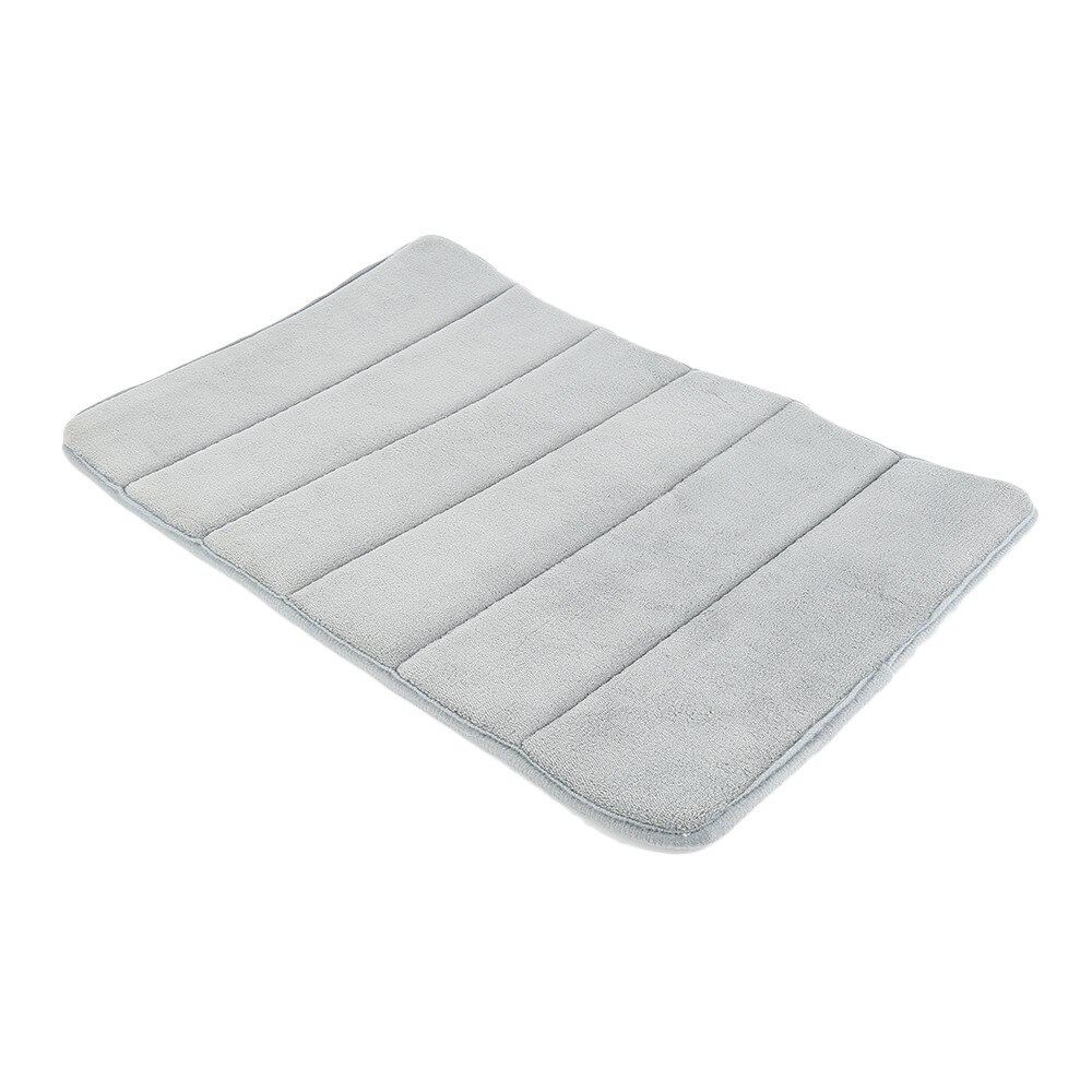 1Pcs 40x60Cm Home Non-Slip Bath Mat Bathroom Carpet Soft Coral Fleece Memory Foam Rug Pad Kitchen Toilet Floor Decor enlarge