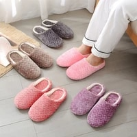 autumn winter women slippers bottom soft home shoes cotton men slippers indoor slip on slides women comfortable shoes for couple