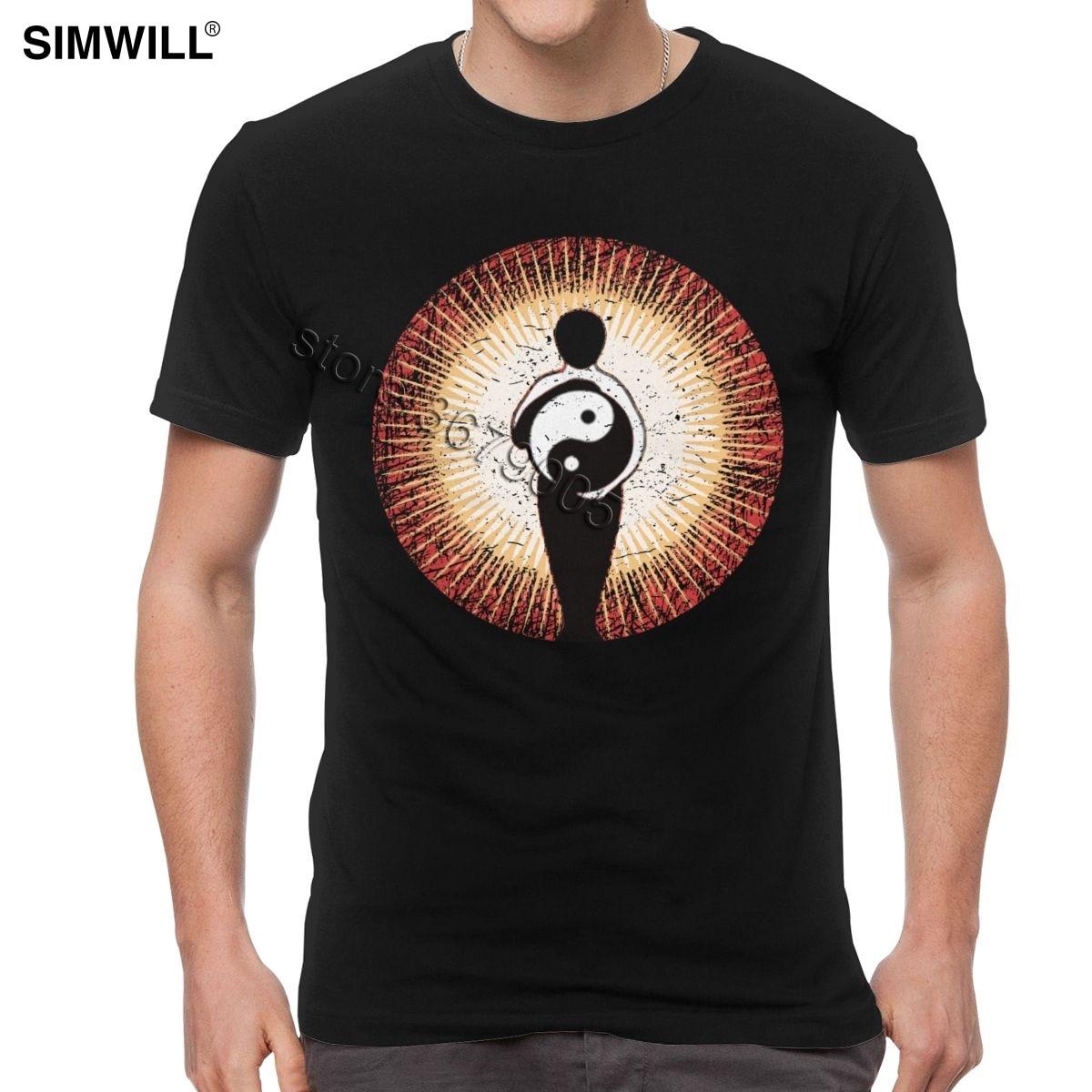 Классические футболки Tai Chi Chuan, мужские футболки с коротким рукавом В Китайском Стиле Инь Ян, футболки с графикой, уличная летняя хлопковая футболка, одежда
