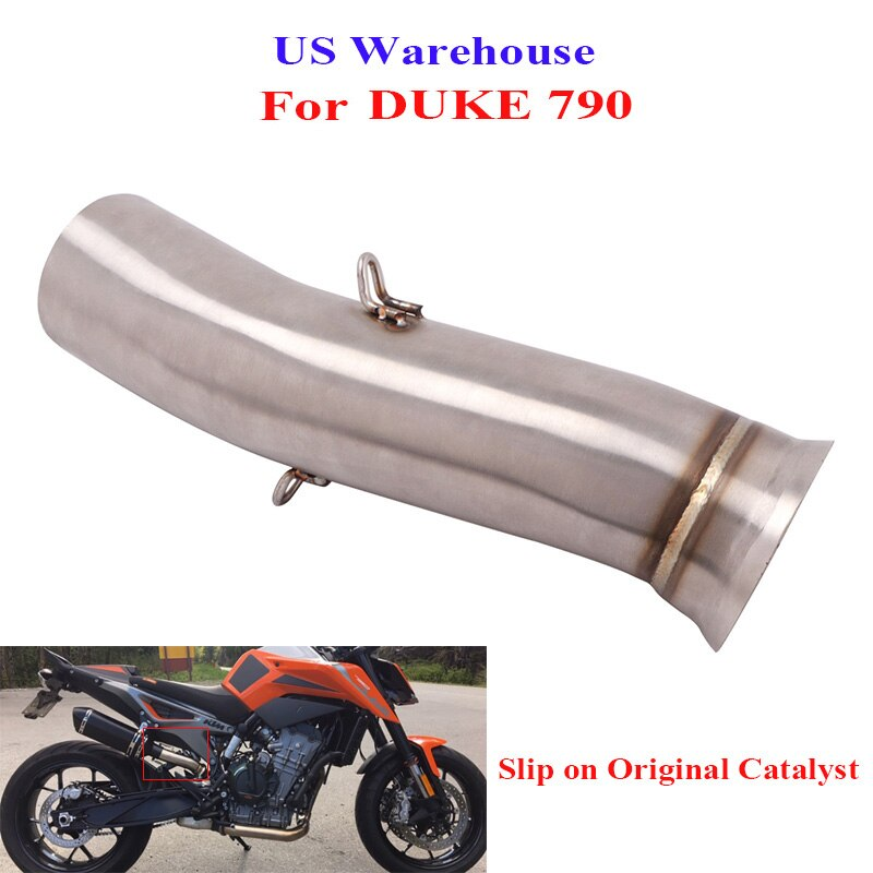 Slip on for DUKE 790 Motorcycle Exhaust System Middle Mid Link Connect Pipe for KTM DUKE 790