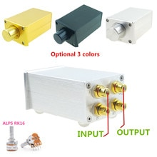 Fv3 고정밀 패시브 프리 앰프 볼륨 컨트롤러 hifi 프리 앰프, alps rk16이 장착 된 파워 앰프 또는 액티브 스피커와 일치
