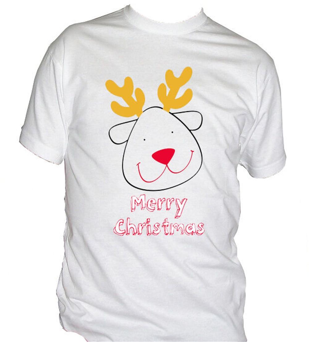 Fm10 MenS T-Shirt Reindeer Funny Christmas Gift Idea Santa Claus Fitness Tee Shirt