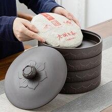 Boîte de rangement de gâteau de thé en céramique   pot scellé grand Puer, boîte de rangement de gâteau de thé en céramique, réservoir de stockage, boîte demballage