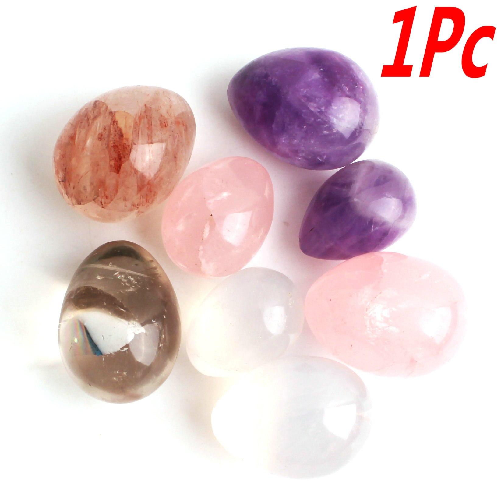 1 ud. Cristal Natural amatista rosa cuarzo huevo BOLA MÁGICA Mini ornamento esfera bola piedra pulida curación regalo