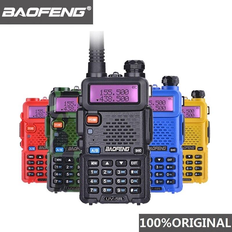 Портативная рация Baofeng, Двухдиапазонная профессиональная 5 Вт 1800 мАч UV 5R, Любительская двухсторонняя радиостанция UV5R, Охотничья радиостанци...