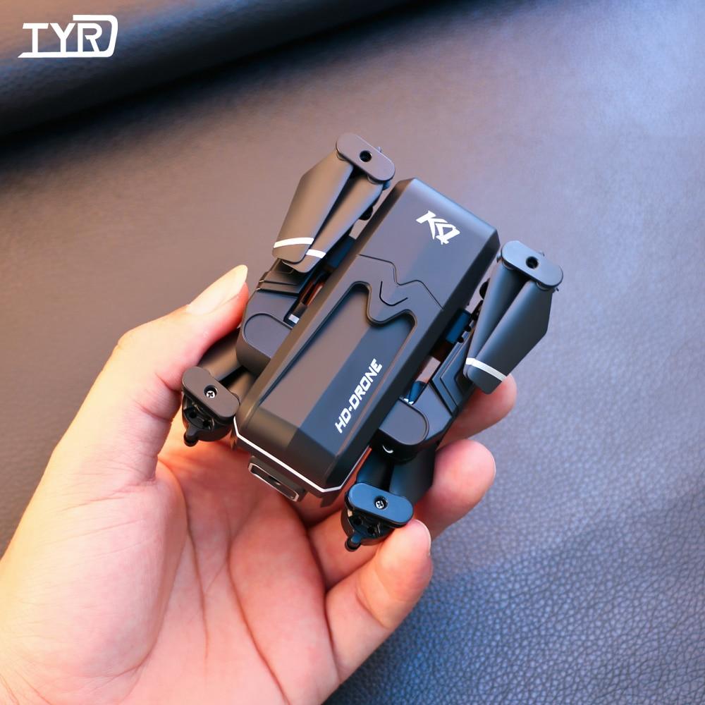 طائرة بدون طيار صغيرة TYRC KK1 RC بدقة 4K كاميرا مزدوجة احترافية عالية الدقة تعمل بالواي فاي Fpv بمفتاح واحد وعودة آلية مع عقد طائرة رباعية قابلة للط...